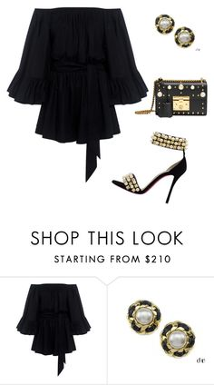 """Untitled #5276"" by browneyegurl ❤ liked on Polyvore featuring Christian Louboutin, C/MEO COLLECTIVE, Chanel and Gucci"