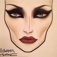 @mac.facechart maleficent makeup or elphaba makeup with green foundation