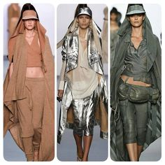 Nicholas K SS17 at NYFW: When urban Bedouin princesses take the ramp. Asymmetrical jackets, wrap visors, crop tops with track pants and more... All this in neutral shades.  #nicholask #nyfw #nyfwupdates #newyork #fashionweek #fashioninspo #fashion #style #style #stylish #fashion  #fashionable #stylefile #trendy #fashionable #ootd #ootn #doubletap #fashioninspo #followforfollow #f4f