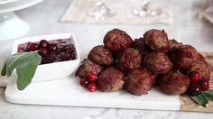 Turkey Stuffing Meatballs - Easy but impressive holiday entertaining dishes