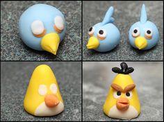 I'm Gonna Snap: Angry Birds Fondant Cake Fondant Figures Tutorial, Fondant Toppers, Fondant Cakes, Cake Tutorial, Bird Birthday Parties, Birthday Candy, Cake Mix Banana Bread, Cake Decorating For Kids, Chocolate Dreams