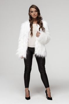 SmokeFurs Makes Only High Quality Products. White Faux Fur Jacket, Fake Fur, Fur Coat, Boots, How To Make, Jackets, Collection, Products, Fashion