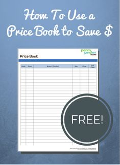 One thing you can do to help save money is to create your own Price Book. What is a Price Book? Simply put: A Price Book is a list of the products you purchase and the prices you pay in order to w . Ways To Save Money, Money Tips, Money Saving Tips, Frugal Living Tips, Frugal Tips, Budget Organization, Organizing, Blogging, Thing 1
