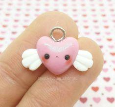 #kawaii #charms #polymer #clay #heart