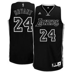 d6c489391 NBA Men s Los Angeles Lakers Kobe Bryant Black-Black-White Swingman Jersey ( Black