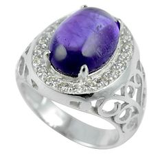 Attractive Design Natural Purple Amethyst 925 Sterling Silver Gemstone Handmade Ring For Beautiful Finger by FinesilverArt on Etsy