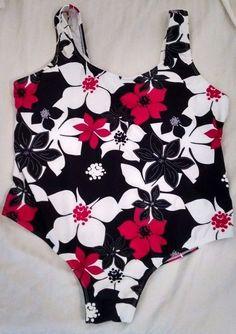 9e852535c8cee Catalina Black Bathing Suit Swim Wear 1pc 2x XXL 18-20 Never W tags