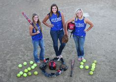 Best friend softball pics.... I have to have one with my girls!