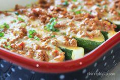 Taco Stuffed Zucchini Boats | Skinnytaste