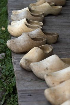 """For years and years people in The Netherlands used to wear """"klompen"""". Dutch Wooden Shoes, Wooden Clogs, Holland Netherlands, Amsterdam Netherlands, Country Life, Delft, Land Scape, Collections, Painting Inspiration"""