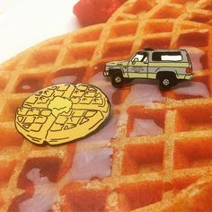 Mmm happy waffle day!! Stranger Things inspired pins are up in the shop! Get…