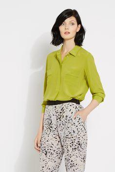Isla Silk Shirt  www.wishbone.co.uk Silk, Shirts, Collection, Women, Dress Shirts, Silk Sarees, Shirt, Woman