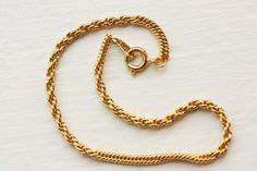 Simple Gold Bracelet by diamentdesigns on Etsy, $10.00
