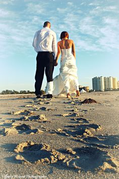 this one would be great if the footsteps were cleaner and they came together near the couple to signify oneness