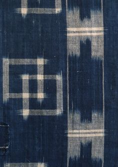 Sri | Large Scale Kasuri: Indigo Dyed Cotton