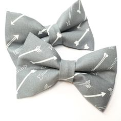 Beautiful bow ties with arrows available in the shop!