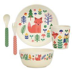 Petit Collage Dinnerware Set, Forest