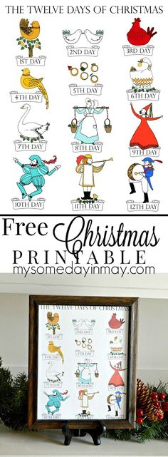 12 Days of Christmas Free Printable!