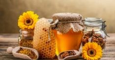 Photo about Still life with honey, honeycomb, pollen and propolis. Image of golden, nutrition, flower - 29066955 Herbal Remedies, Health Remedies, Natural Remedies, Flu Remedies, Natural Honey, Raw Honey, Honey Bees, Natural Hair, Jelly Recipes