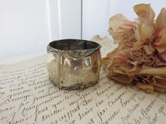 Gorgeous Vintage Silver Plated Napkin Ring, Pretty Vintage Serviette Holder, Scrolling Decor, ALPACA Silver Plate Ring, Paris Chic Dining by SweetVintageDream on Etsy