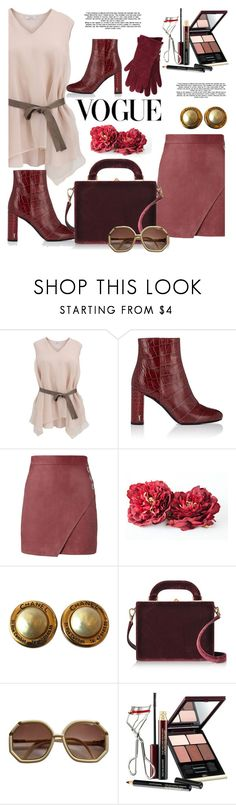 """Untitled #976"" by pesanjsp ❤ liked on Polyvore featuring Brunello Cucinelli, Yves Saint Laurent, Michelle Mason, Chanel, Bertoni, Kevyn Aucoin and M&Co"