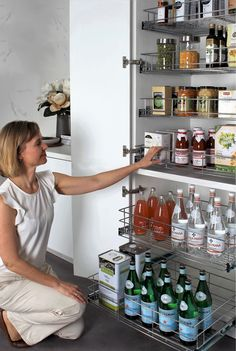 Easy access-never have to dig into the back of your pantry again #pantrystorage #kitchenrenovations #kitchendrawers #pulloutpantry #kitcheninspo #kitchenreno #kitchenideas