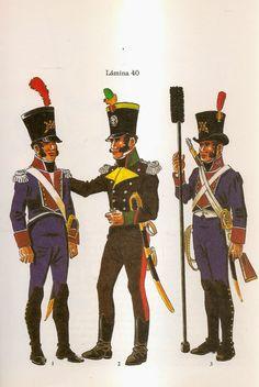 Artillery of Cadiz L to R Company of Artilleros Distinguidos de Cadiz… Empire, Army History, Independence War, Portugal, Army Uniform, Napoleonic Wars, Toy Soldiers, Pictures, Soldiers