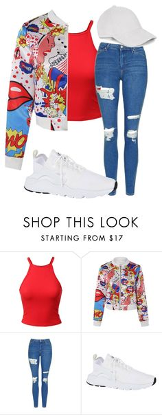 """Untitled #2388"" by mfr-mtz ❤ liked on Polyvore featuring Topshop and NIKE"