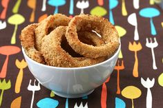 OMG Oven Baked Onion Rings - 220 calories and 5 grams of fat per serving