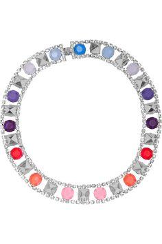 Tom BinnsNoble Savage rhodium-plated crystal necklace