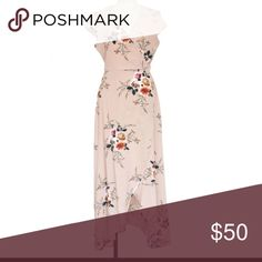 Floral Wrap Maxi Dress in Khaki Gorgeous floral Maxi dress in Khaki color. Wrap dress style and super flattering! *Not Reformation brand, brand tagged for exposure Reformation Dresses Maxi