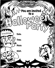 "Planning a Halloween party?  Here are a bunch of super fun and free Halloween printables - invites and more - so your ""Monster Mash"" will be a success!"