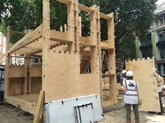 WikiHouseUK // WikiHouse v4.0 // The Building Centre ‏@BuildingCentre The two-storey @WikiHouse with our fantastic team @ArupGroup and Zero Zero is coming together! For @L_D_F