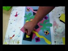 Matisse Collage: The Vorpal Arrow Way Art Education Videos Henri Matisse elementary (2:04)