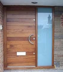 Contemporary Door And Frame Sidelight, Door At Our Previous House: )