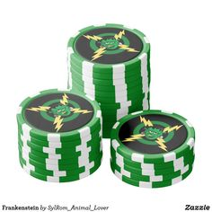 Shop Frankenstein Poker Chips created by SylRom_Animal_Lover. Custom Poker Chips, Bachelor Party Gifts, Frankenstein, Wedding Favors, Your Design, Vibrant Colors, Things To Come, Take That, Green
