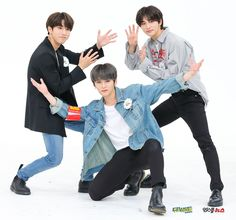 Stray Kids Han Jisung, Lee Know (Minho) & Hyunjin