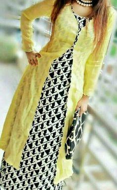 Goes well with long skirt and plazo Churidar Designs, Kurti Neck Designs, Kurta Designs Women, Kurti Designs Party Wear, Blouse Designs, Dress Indian Style, Indian Wear, Pakistani Dresses, Indian Dresses