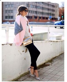 City Chic in my Faves Pink,Black, Print & Gold