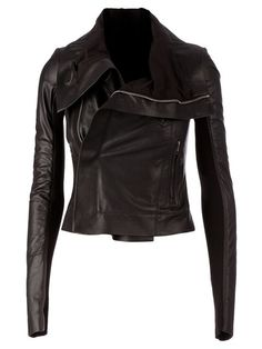 Shop Rick Owens biker jacket in L'Eclaireur from the world's best independent boutiques at farfetch.com.