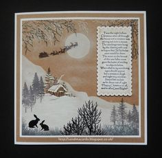 Hello there my crafty friends, Inkylicious have had two fabulous shows with amazing demos by Deby and Emma on Hochanda today at and Christmas Cards 2017, Christmas Paper Crafts, Christmas Scenes, Xmas Cards, Handmade Christmas, Holiday Cards, Christmas Houses, Christmas Postcards, Greeting Cards