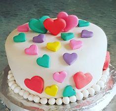 Birthday Cakes, Birthday Parties, Valentine Cake, Fondant Cupcakes, Cake Stuff, Elegant Cakes, Girl Shower, Candyland, Frostings