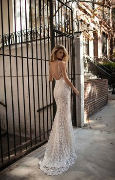 Berta bridal fall 2017 wedding dresses full of Illusion lace and sheer details