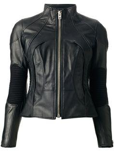 JUNYA WATANABE COMME DES GARÇONS Funnel Neck Leather Jacket