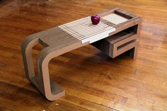 TEAM TABLE: CARDBOARD RETHOUGHT by Sottithat Winyarat, via Behance