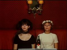 "The two actresses in the 1960s Czech movie ""Daisies."" Directed by Vera…"