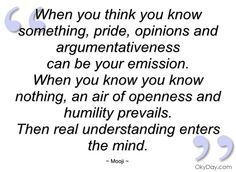 when you think you know something mooji