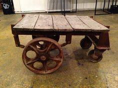 Table basse industrielle - chariot vintage Ameublement Paris - leboncoin.fr