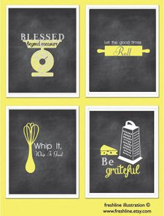 Kitchen Wall Art Inspirational Quotes Funny Kitchen by Freshline, $60.00