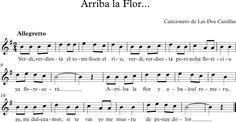 Arriba la Flor. Cancionero de Las Dos Castillas.